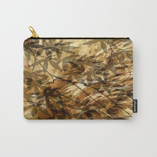 Golden Leaf Shadows Abstract Carry-All Pouch