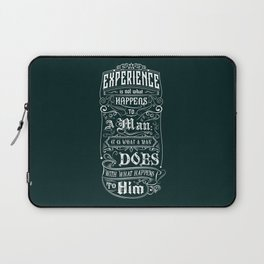 Lab No. 4 Experience Is Not What Happens To A Man Aldous Huxley Inspirational Quotes Laptop Sleeve