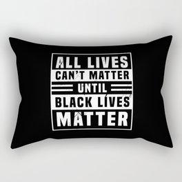 Black Lives Matter Power Anti Rac BLM Rectangular Pillow