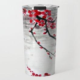 Plum Blossom at night Travel Mug