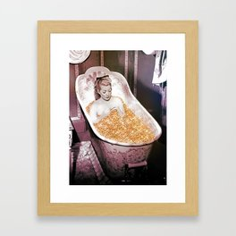 Bathing in Gold is Good For Your Soul Framed Art Print