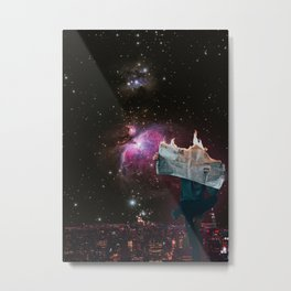 Lost or Found in Space Metal Print