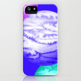 Illustration of watercolor round planet iPhone Case