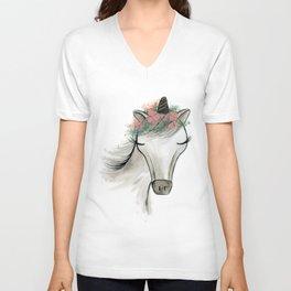 Zoey the Unicorn Unisex V-Neck