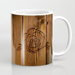 Rose on Wood Coffee Mug