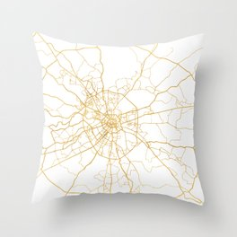 MOSCOW RUSSIA CITY STREET MAP ART Throw Pillow
