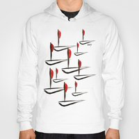 boats Hoodies featuring Boats by Elly F