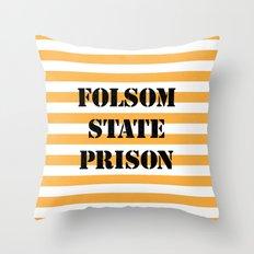 Folsom State Prison Throw Pillow