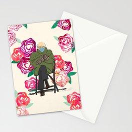 Floral Bernie  Stationery Cards