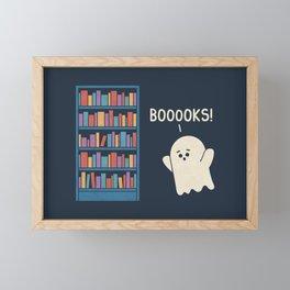 Booook Lover Framed Mini Art Print