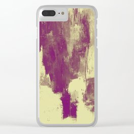 Textured Purple Clear iPhone Case