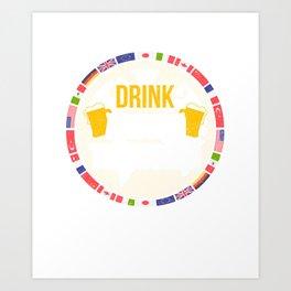 Drink Around The World Beerfest T-Shirt Art Print