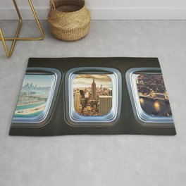 traveling the world Rug