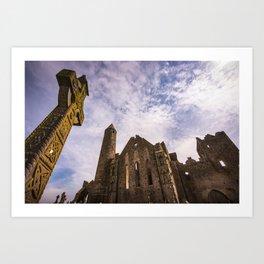 Rock of Cashel historic ruins in Ireland Art Print