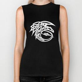 Celtic Knotwork Toothless (WHITE) Biker Tank