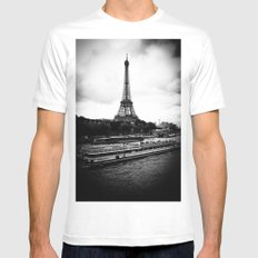 Eiffel Tower MEDIUM Mens Fitted Tee White