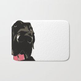 Black Great Dane Dog Bath Mat