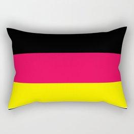 Striped , black , yellow , red Rectangular Pillow
