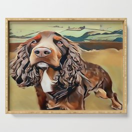 The Field Spaniel Serving Tray