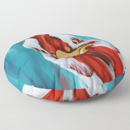 Sticky Beak - Colorful Chicken Art Floor Pillow