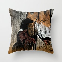 The Little Old Hunter -series with the cave images Throw Pillow