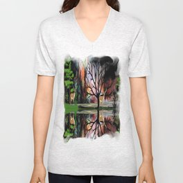 The Forest Clearing Unisex V-Neck