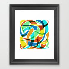 Friendly Chaos Framed Art Print