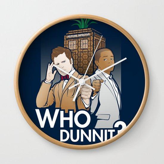 Who Dunnit? Wall Clock