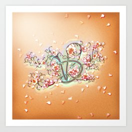 VD: monogram in flower Art Print