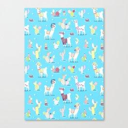 Alpaca Pattern Canvas Print