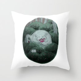 Bear and Berries Throw Pillow