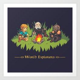 World Explorers Art Print