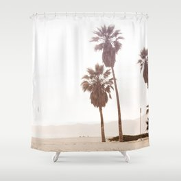 Vintage Summer Palm Trees Shower Curtain