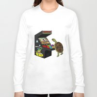 ninja turtle Long Sleeve T-shirts featuring Arcade Ninja Turtle by Michowl