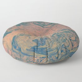 Pink Neon Marble - Earth Gum #nature #planet #marble Floor Pillow