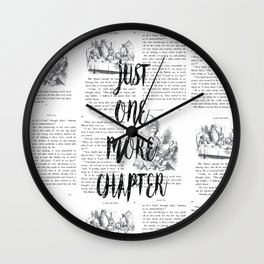 One More Chapter Wall Clock