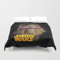 swag Duvet Covers featuring Chewbacca Swag by Heretic