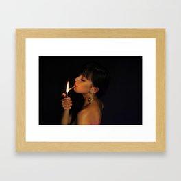 Light it Up! Portrait Framed Art Print