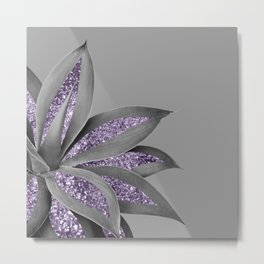 Agave Finesse Glitter Glam #4 #tropical #decor #art #society6 Metal Print