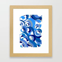 Seigaiha Series - Tenderness Framed Art Print