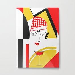 The Art Deco Woman Metal Print