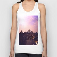 cleveland Tank Tops featuring Cleveland Skyline by Toni Tylicki