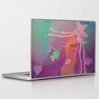 mermaid Laptop & iPad Skins featuring Mermaid by Graphic Tabby