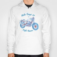 moto Hoodies featuring moto guzzi - cafe racer by dareba