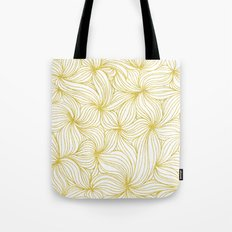 Golden Doodle floral Tote Bag