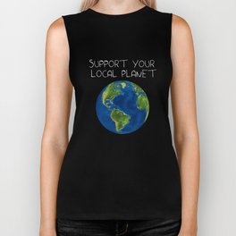 Support Your Local Planet Biker Tank