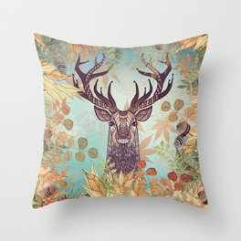 THE FRIENDLY STAG Throw Pillow