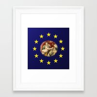 europe Framed Art Prints featuring Europe by Turul