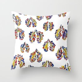 Breathe in Nature's Colors Throw Pillow