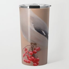 Waxwing with Berries Travel Mug